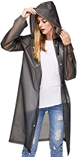 ANERYA Womens Waterproof Raincoat Outdoor Hooded Rain Jacket Windbreaker