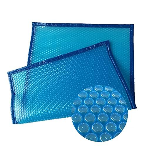 GDMING 400 Micrones Cubierta De Piscina Impermeable Lona Alquitranada, Cubierta Solar Rectangular, Plegable Azul Burbuja Guardapolvo para Piscina sobre El Suelo Y Enterrada, 41 Tamaños