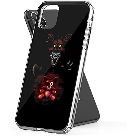 Crystal Clear Phone Cases Five Nights at Freddy's FNAF 4 Nightmare Foxy Plush Case Cover Compatible for iPhone (11 Pro Max)