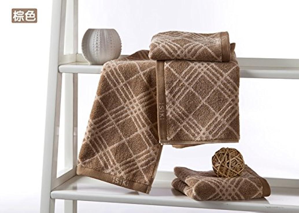 狂信者修道院うがい2ブランドisiki品質の綿ハンドタオルメンズタオルの女性のタオルのパック (ブラウン)