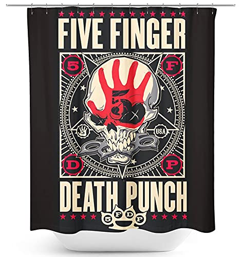 Five Finger Death Punch Punchagram Unisex Duschvorhang Standard 100% Polyester Band-Merch, Bands