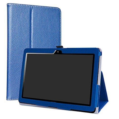 """MediaPad T3 10 Custodia,LiuShan slim Sottile Pieghevole con supporto in Piedi caso per 10.1"""" Huawei MediaPad T3 10 Android Tablet,Blu"""