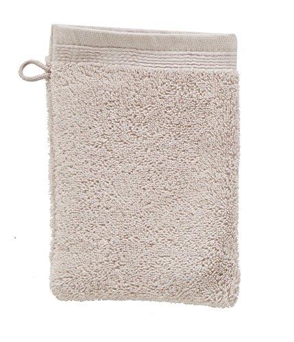 Blanc des Vosges Eponge unie Gant Coton Perle 16x22 cm