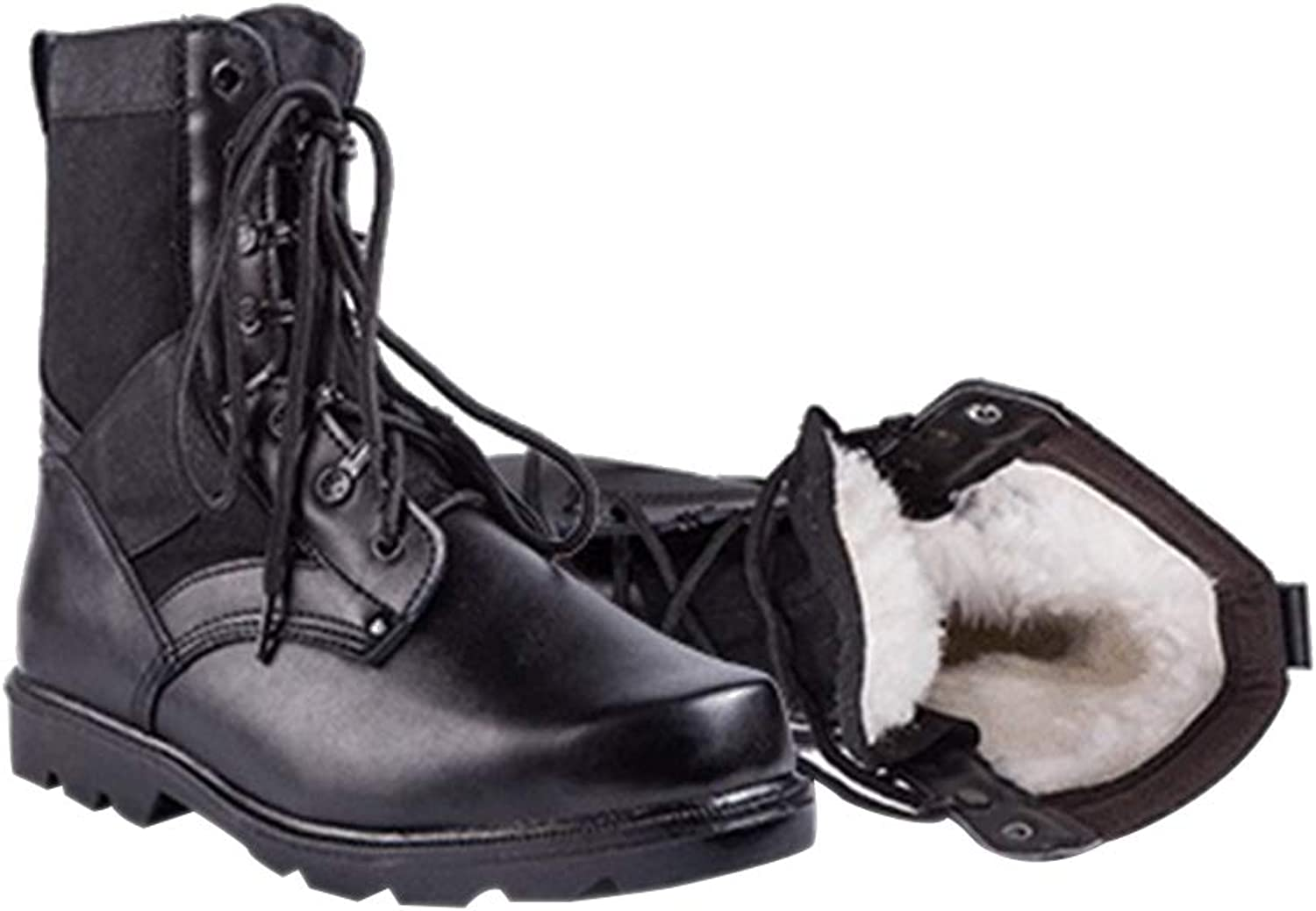 KINDOYO Mens Autumn Winter Boots - Military Training shoes