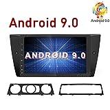 Freeauto Android 9.0 Autoradio für BMW E90 E91 E92 E93 9 Zoll Touchscreen, GPS Navigationskopf mit Lenkradsteuerung, Bluetooth WiFi 1080P Video