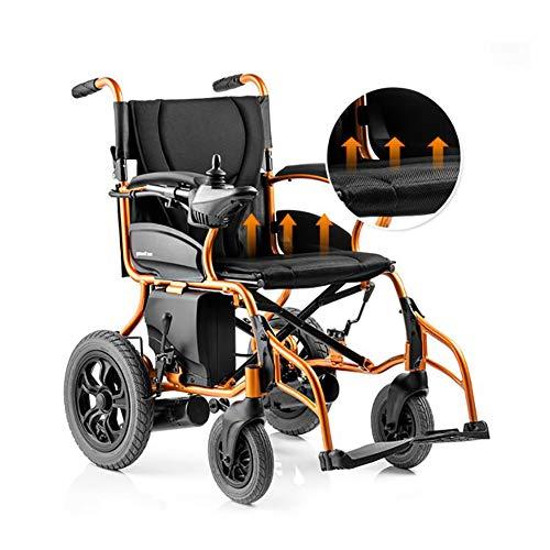 Wheelchair Potencia eléctrica Plegable Silla de Ruedas, con 18Ah polímero de Ion-Litio, Ultra portátil Plegable de Potencia Vespa Silla motorizada, para los inválidos, Ancianos Movilidad