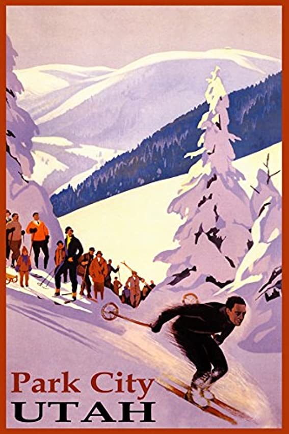 WINTER SPORTS PARK CITY SKI MOUNTAIN RESORT UTAH DOWNHILL SKIING USA TRAVEL VINTAGE POSTER REPRO ON PAPER OR CANVAS (20