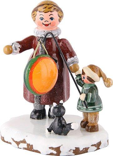 Kleine Figuren & Miniaturen Winterkinder Meine große Schwester und ich - 8cm - Hubrig Volkskunst