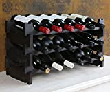 Vinrack 18 Bottle Wooden Wine Rack - Self Assembly (Australian Radiata Pine - Dark Stain 3H x 6W)