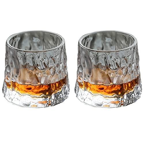 Vaso Vasos De Whisky Vaso Giratorio De Cristal para Vino Vasos De Whisky A La Antigua Vasos De Cristalería Únicos para Cócteles Cristalería De Estilo para Copas De Ron Bourbon