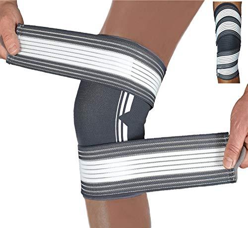 Belmusco Kniebandage Damen und Männer Doppel Fixierbar bietet Mehr Stabilität im Alltag und beim Sport…