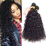 10A Brazilian Virgin Curly Human Hair Weave 3 Bundles 26' 28' 30' 300g Virgin Brazilian Remy Kinky Curly Hair Bundles 100% Unprocessed Virgin Remy Human Hair Bundles Natural Color