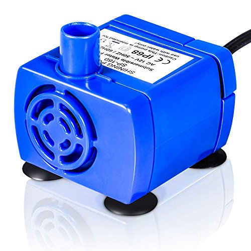YHG Submersible Water Pump for Pet Fountain, 12V Pet Fountain Pump Powerful Replacement Pet Fountain Water Pump with 1.8m Power Cable, Low Power Consumption for Most Flower Fountain