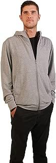 Lightweight Stretch Full-Zip Hoodie Men's Vape Ready Fleece Sweatshirt