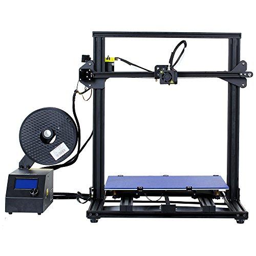 Comgrow Creality 3D Stampante 3D CR-10 S4 con Prusa i3 Doppia z le viti 400x400x400mm