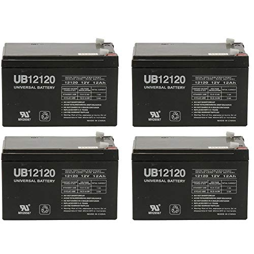 Universal Power Group 12V 12AH Replacement Battery for Pride Mobility Go Go Scooter - 4 Pack