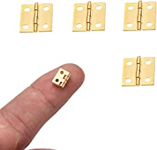 Mini Hinge 4 Pieces Pure Copper Mini Hinges Retro Butt Hinges 8mm10mm Folding Butt Replacement Home Furniture Hardware Cab...