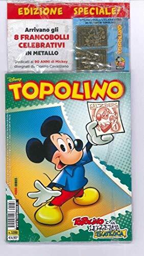 Topolino 3288 con francobolli celebrativi 90 anni