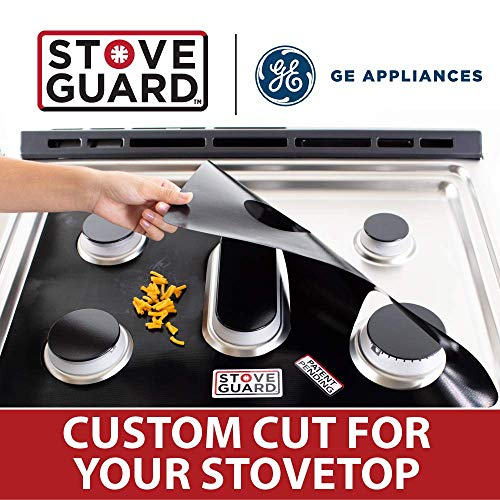GE Stove Protectors - Stove Top Protector for General Electric Gas Ranges - Ultra Thin Easy Clean Stove Liner