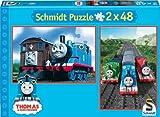 Schmidt Spiele–Thomas y Sus Amigos, 2x 48Piezas Puzzle