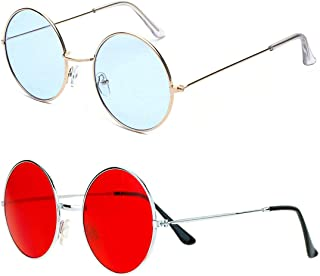 215148a9ba0e Phenomenal Round Unisex Sunglasses pack of 2 (Blue:Red)