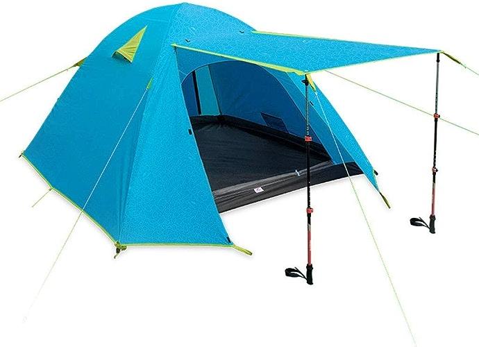 Jolly Tente extérieure 3-4 Personnes Camping Camping épaississement Anti-tempête Pluie Double écran Solaire Tente de Plage