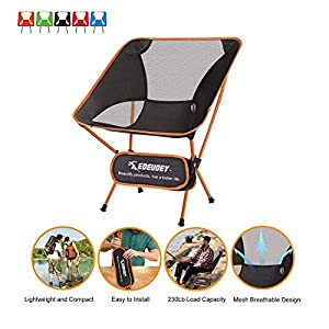 EDEUOEY Ultralight Backpack Camping Chair 104 KG Weight Capacity