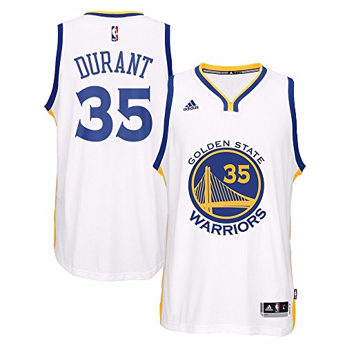 adidas Kevin Durant Golden State Warriors NBA Home Climacool Swingman Jersey for Men (XX-Large)