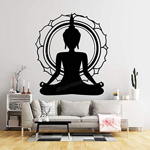 Buddha Wall Decal Vinyl Decal Wall Sticker Yoga Room Decoration57x65cm