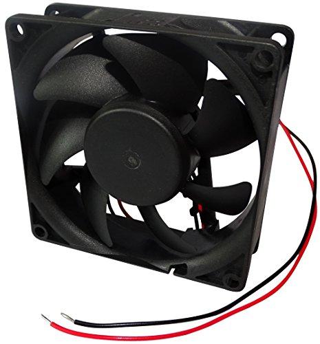 AERZETIX: Ventilador para PC Ordenador de sobremesa 12V 80x80x25mm 69,7m3/h 33dBA 3200rpm 28AWG