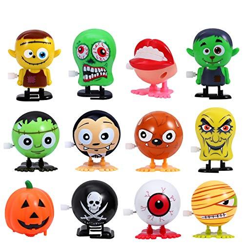 Amosfun Halloween Aufziehspielzeug, Halloween Wind up Toys Novelty Mini Toys Halloween Gift for Kid Boys,Set of 12