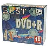 Pack 10 DVD+R Best - 4X - 4,7 GB - Caja Slim - Made in France