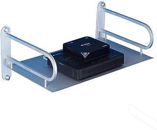 LULUDP Scatola di archiviazione Wireless Easy WiFi Rack TV Set-Top Box-Shelf Single-Layer Appeso a Parete - Camera cremagl...
