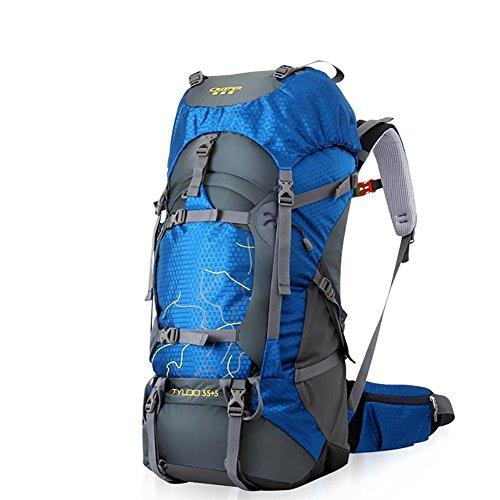 GAOHAILONG 70L Creeper Multi Fonctionnelle étanche Sac à Dos Sacs à Dos de vélo Voyage sur Alpinisme Pied, Blue