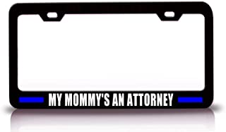 Auto License Plate Frame Tag Aluminum Metal, Personalized Police Cop Black Car License Cover Holder for US Standard, 2 Holes and Screws