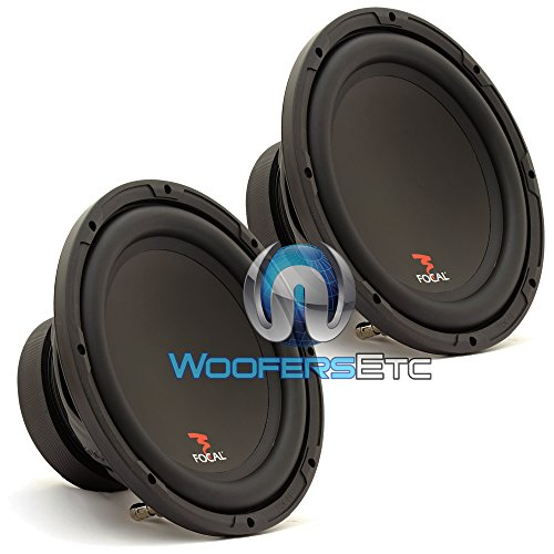 """Pair SUB P25 - Focal 10"""" 200W RMS 400W Max Single 4-Ohm Subwoofer"""