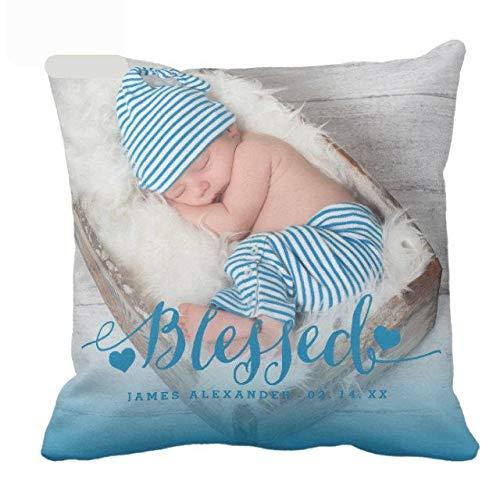 463Opher Onderscheid Interieur Gepersonaliseerde Baby Geboorte Aankondiging Voor Jongens Met Tekst Foto Aangepaste Geboorte Statistieken Kussen Cover Baby Kussen Met Naam