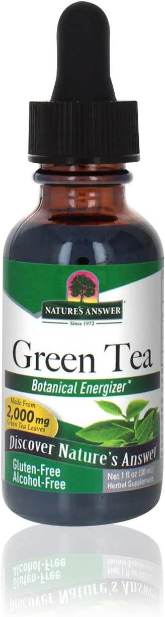 Nature's Answer Alcohol-Free Green Tea Nat Leaf Ranking TOP18 1-Fluid Ranking TOP5 Ounce
