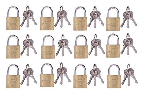 12 Vorhängeschlösser + 36 Schlüssel, Gleichschließend (32mm /30851)