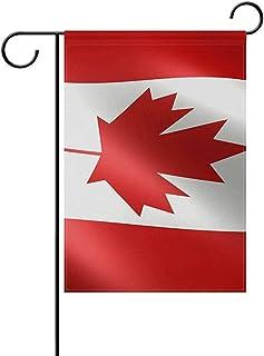 wallxxj Garden Flag Ondeando La Bandera De Canadá Bandera Nacional De Canadá Poliéster Resistente A La Intemperie 32X48Cm Bandera del Jardín Estacional Home Banner