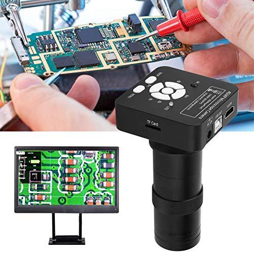 Nannday USB Microscope Camera, 41MP Industrial Microscope Camera Magnifier, High Definition 100X Industrial Camera for Microelectronics Phone Repairing Laboratory(Black)