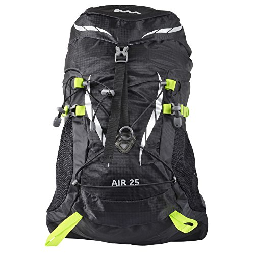 JAM 25L Black Waterproof Rucksack Air Hiking Camp Hydrate Trek Travel Backpack