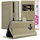 Cadorabo Book Case Compatible with Nokia Lumia 950 XL in Cappuccino Brown - with Magnetic Closure, Stand Function and Card Slot - Wallet Etui Cover Pouch PU Leather Flip