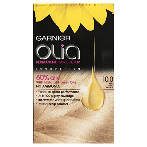 3 x Garnier Olia Permanent Hair Colour 10.0 Very Light Blonde
