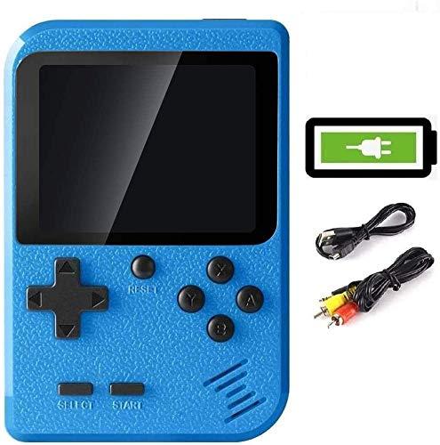 LucaSng Handheld Spielkonsole Tragbare Retro-Minispieler 400 klassischen FC-Spielen 3 Inch Farbbildschirm Support Verbindung mit TV& 2 Spieler Wiederaufladbare Batterie Geschenk für Kinder Erwachsene