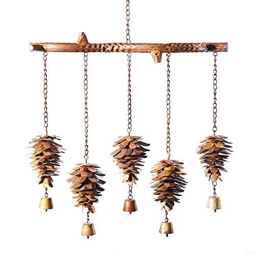 Ancient Graffiti Pinecones Chime - Steel Wind Catchers Bells Yard, Deck Patio