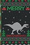 Ugly Spinosaurus Christmas Composition Notebook: Spinosaurus Lover Xmas Lighting Ugly Style Christmas Pajama Journals - Christmas Decoration Journal Notebook For Men, Women, Girls, Kids