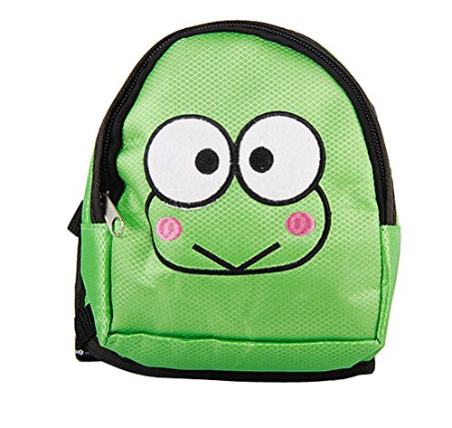 O&C Puppy Dog Backpack,Saddle Bags,Back Pack with Training Lead Leash (Green Frog, S(12x14cm))