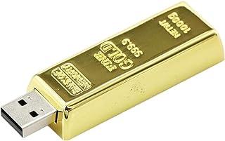 NMD&LR Unidad Flash USB, Unidad Flash USB De Lingotes De Oro Creativa 32G, Unidad Flash USB De Pepita De Oro De Regalo, Un...
