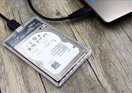 『透明な 2.5インチ HDDケース USB 3.0接続 SATA対応 HDD/SSD 外付け ドライブ ケース ネジ&工具不要 簡単着脱 Windows/Mac/Linux等適用』の6枚目の画像